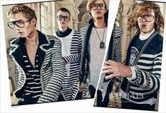 Ariel Rosa, Davy Swart, Emil Wilkstrom and Maxime Findeling for Balmain SS18