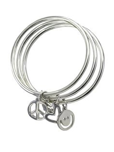 From Peaceloveworld Com  C B Plw Bangles In Sterling Silver Rounded Edge Set Of  These Should Adorn