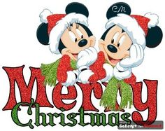 Mickey & Minnie Mouse Merry Christmas.