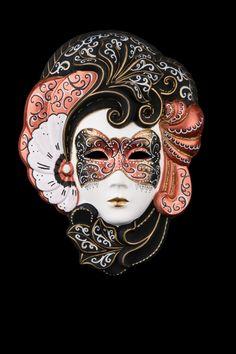 Alegreta Bronzo: maschera artigianale veneziana prodotta a mano a venezia dai maestri dell'isola secondo il carnevale veneziano