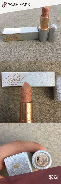 MAC Mariah Carey Bit of Bubbly Lipstick 💔Limited Edition 💔Sold Out  ❤️Brand New   Mariah Carey Collection creme-sheen lipstick in color Bit of Bubbly. Beautiful nude color that looks great on multiple skin tones. The beautiful butterfly design in the lipstick really make his one of prettiest packaged lipsticks I've ever seen. The cover is sparkly and very glam like Mariah herself!   Pls send offers 🌹 MAC Cosmetics Makeup Lipstick