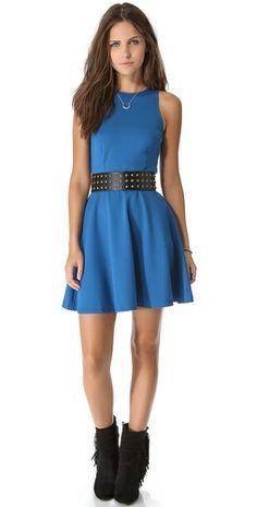Ashlees Loves: Studded loved info @ashleesloves.com #BBDakota #Kelsi #Flare #dress #StuddedBelt #studded #women's #fashion #apparel #style #love