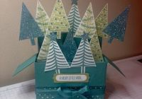 rectangle card in a box featuring festival of trees more details on blog www.craftwithhayley.com