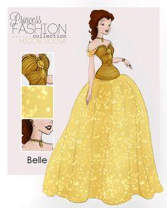 Princess Fashion Collection by Higor Sousa | Belle | Beauty and the Beast | Bella | La Bella y La Bestia | @dgiiirls