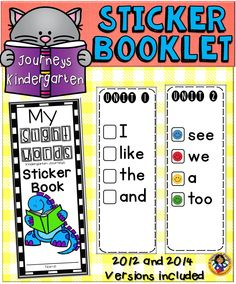 Sticker books are a great way to keep track of the sight words that are taught in your classroom.