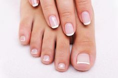 Beautiful Toe Nails . . . French Pedicure and Manicure ♥ nail summer cute