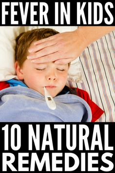 10 Home Remedies for Fever in Kids   Whether your baby, toddler, and/or school-aged children have a fever, you want FAST relief! Whether it's caused by flu, sore throat, strep throat, or ear infection, these simple tips and natural treatments for fever promote comfort and boost a child's immune system for happy healthy kids (and moms). Learn what a fever is, how it works, when to use medicine, and more! Home Remedies For Fever, Natural Remedies For Fever, Natural Cures, Natural Health, Natural Fever Reducer, Herbal Cure, Herbal Remedies, Health Remedies, Cold Remedies