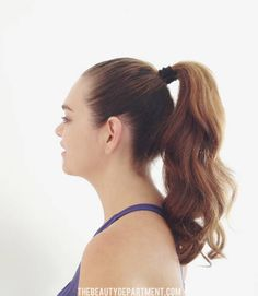 The Beauty Department: Your Daily Dose of Pretty. - BEST WORKOUT HAIR TRICK