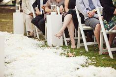 Feather wedding aisle - something different and hopefully no one is allergic. #feathers #wedding aisle #my digital wedding