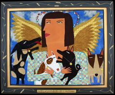 Chris Roberts Antieau - Angel of Lost Dogs (24 x 29)  - I love her images!