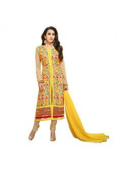 Eid Special  Yellow Georgette  Salwar suit  - 1890107