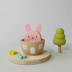 #wood #woodencity #monster #kids #play #playtime #gift #kids #kidsdeco #nurserydeco #woodenset #wooden #character #kawaii #cute #rabbit #yeti #noodoll #kiko+ #kiko #machi #town