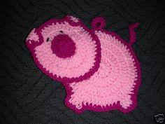 pink pig potholder