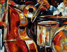 Jazz Painting abstract music art Debra Hurd, painting by artist Debra Hurd
