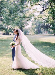 Natural Outdoor Nashville Wedding via oncewed.com