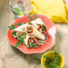 Italiaanse carpacciowrap met tomatensalade