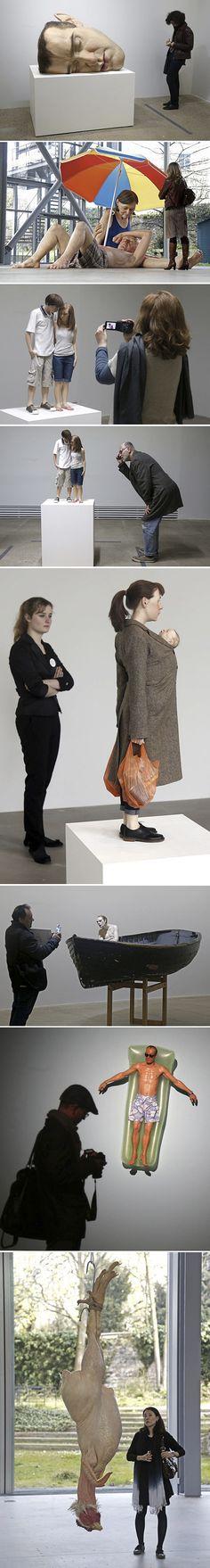 Ron Mueck : Hyper-Realistic Sculptures