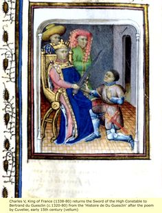 Charles V (1338–1380), called the Wise, was King of France from 1364 to his death in 1380 and a member of the House of Valois. His reign marked a high point for France during the Hundred Years' War, with his armies recovering much of the territory ceded to England at the Treaty of Brétigny. Charles was born at the château de Vincennes outside of Paris, France, the son of John II of France and Bonne of Luxembourg. Upon his father's succession to the throne in 1350, Charles became Dauphin of…