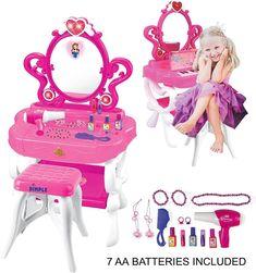 10 Best Modern Makeup Vanity Table Review 2020 Girls Vanity Table, Vanity Table Set, Makeup Table Vanity, Vanity Set, Makeup Chair, Little Girl Vanity, Little Girls Makeup, Kids Makeup, Modern Makeup Vanity
