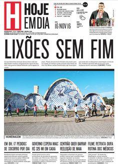 Capa do dia 16/11/2016 #HojeEmDia #Jornal #Notícias #News #Newspaper