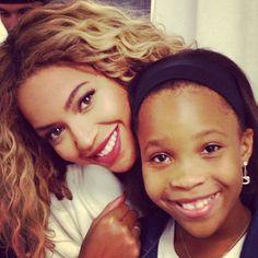 Beyonce and Quvenzhane Wallis