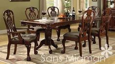 NEW Furniture! 9 pc Brunswick Formal Dining Room Set, Includes Table, w/8 Chairs