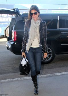 First class departure! Cindy Crawford looked absolutely sensational as she arrived at LAX ahead of her flight to New York on Monday afternoon