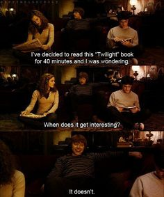 harry potter always beats twilight :D
