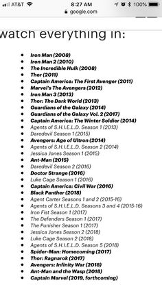 Best order to watch the marvel movies in - movies to watch list - . - movies to watch list - Marvel Watch Order, Avengers Movies In Order, Marvel Movies List, Films Marvel, Marvel Avengers Movies, Dc Movies, Disney Marvel, Marvel Marvel, Netflix Movies