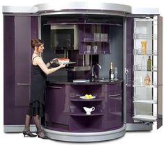 Circle Kitchen Slim Line, Premium, Deluxe Plus, Modell Foyer, Büro, Appartement Küche