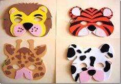 Resultado de imagen para moldes de mascaras de animales del zoologico