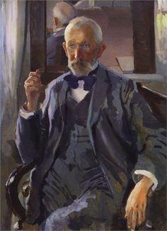 Portrait of A. Somov, the Artist's Father, 1897  Konstantin Somov
