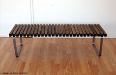 SPB5 spruce slat bench  Eames Era  Mid by lunarloungedesign, $675.00