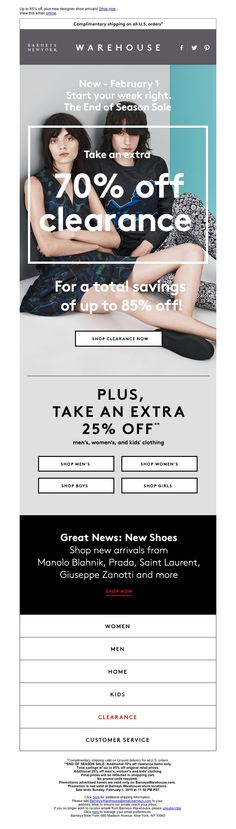 Barneys New York - The End of Season Sale + New Shoe Arrivals!