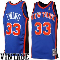 b28598ccc Mitchell   Ness Patrick Ewing New York Knicks 1996-1997 Hardwood Classics  Throwback Authentic Jersey - Royal Blue
