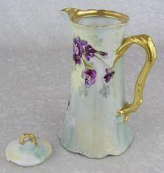 antique violet chocolate pot - Google Search