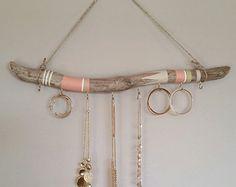 Driftwood Jewelry Organizer Hanging Jewelry by NWUrbanCottage