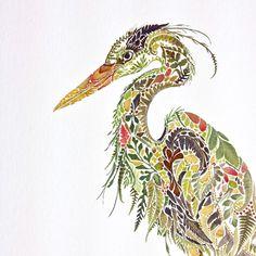 New Pressed Fern, Algae, and Gold Leaf Illustrations by Helen...