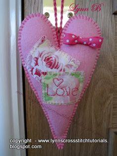 Lynn B 's finishing instructions for cross stitch : Tilda heart instructions