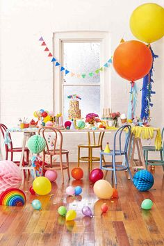 Great ideas for decorating a kid's party. This festive decoration inspo will bring out your happy, silly side —guaranteed!