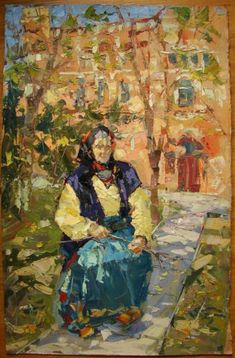 Image result for old  woman painting