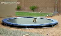 DIY Inground Trampoline Instructions   Total Cost: $150.00 to have the landscaper dig the hole and haul the dirt plus $150.00 for the supplies = $300!