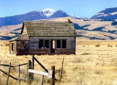 Old rural schools dot the landscape of Montana.  Here is an abandoned one room school house in Quinlan, Montana. by melanie