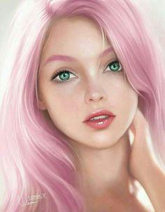 Digital Art Girl, Digital Portrait, Portrait Art, Chica Fantasy, Fantasy Girl, Girl Cartoon, Cartoon Art, Character Portraits, Character Art
