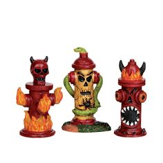 Hellfire Hydrants, Set Of 3