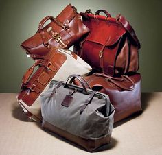 Yes, You May Drool Now: No. 1 Grip Bag from Col. Littleton, Bannack Bag from Bozeman Watch Co., Explorer Bag from Magnums, No. 166 Overnight Bag from Billy Kirk, and Sierra Duffel from Fossil