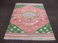 "Anatolian Handmade Kilim Rug,5""x6,4"" Feet 152x194 Cm Vintage Home Floor Decor Flat Weave Woven Turkish Kilim Rug,Ethnic Kilim Rug."