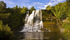 Papakarito Falls, at, Lake Waikaremoana, see more at New Zealand Journeys app for iPad www.gopix.co.nz