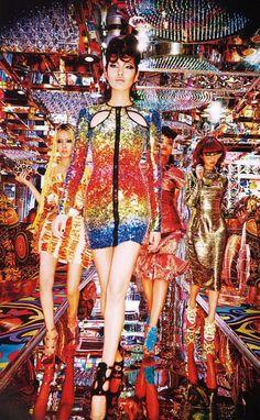 Las chicas neón de Tokio por Ellen Von Unwerth, 2014