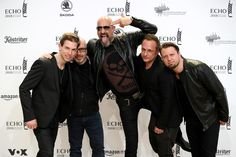 Alexander Wesselsky Photos - Rupert Keplinger, Achim Faerber, Alexander Wesselsky, Jochen Seibert and Juergen Plangger of the band 'Eisbrecher' arrive for the Echo Award at Messe Berlin on April 12, 2018 in Berlin, Germany. - Echo Award 2018 - Red Carpet Arrivals